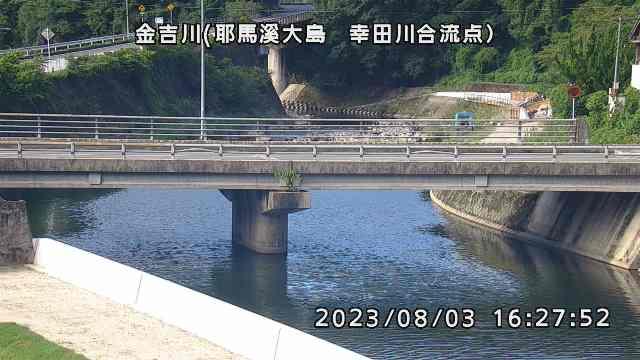 金吉川(耶馬溪大島 幸田川合流点)