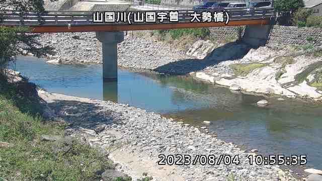 山国川(山国宇曽 大勢橋)