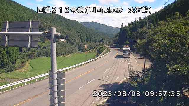国道212号線(山国長尾野 大石峠)